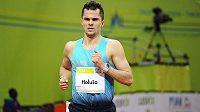 Běžec Jakub Holuša během mezinárodního halového mítinku Prague Indoor.