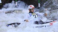 Vojtěch Heger na mistrovství světa ve vodním slalomu ve Španělsku.
