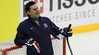 Kouč české hokejové reprezentace Vladimír Růžička.