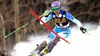 Šárka Strachová si ve slalomu SP v Aspenu dojela pro šesté místo.