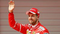 Sebastian Vettel po kvalifikaci v Číně.