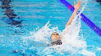 Simona Kubová v akci na ME v krátkém bazénu v Glasgow.