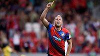 Plzeňský záložník Daniel Kolář oslavuje svůj gól v Superpoháru proti Liberci.