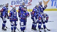 Zklamaní hokejisté Brna po prohře v Liberci.