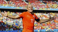 Arjen Robben byl v souboji proti Chile opět nejnebezpečnějším hráčem Nizozemska.