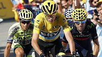 Brit Chris Froome už má vítězství na Tour de France takřka jisté. Ani Alberto Contador (vlevo) s tím v závěrečných dnech nic nezmůže, pokud se nestane nic nečekaného.