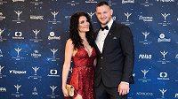 Lukáš Krpálek s partnerkou během vyhlášení ankety Sportovec roku.