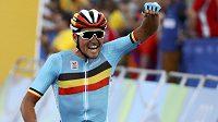 Olympijský vítěz v cyklistice Greg van Avermaet z Belgie.