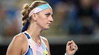 Petra Kvitová v zápase jasně dominovala