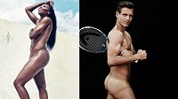 Nazí Venus Williamsová a Tomáš Berdych - to je malá ochutnávka z chystaného nového čísla amerického časopisu ESPN The Body Issue.