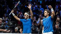 Rafael Nadal (vpravo) a Roger Federer se zúčastní nového turnaje ATP Cup.