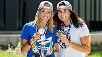 Stříbrná jim sluší. Markéta Sluková a Barbora Hermannová (vpravo) se pochlubily se stříbrnými medailemi z ME.