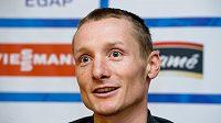 Biatlonista Ondřej Moravec před zahájením sezóny.