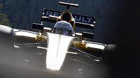 Pilot stáje Renault Kevin Magnussen z Dánska během Velké ceny Belgie.