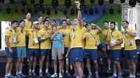 Australští sportovci v olympijské vesnici.