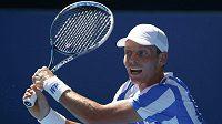 Český tenista Tomáš Berdych v utkání 3. kola Australian Open proti Damiru Džumhurovi.