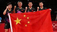 Čínští stolní tenisté získali čtvrtou zlatou medaili v řadě