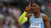 Isaac Makwala z Botswany vyhrál semifinále na 400 m, je jedním z adeptů na zlato.