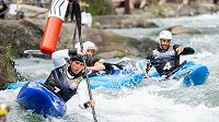 Vát Přindiš na cestě pro zlato v extrémním slalomu na ME v Ivreji.