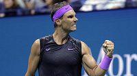 Rafael Nadal po vítězství nad Argentincem Diegem Schwartzmanem ve čtvrtfinále US Open.