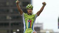 Radost slovenského cyklisty Petera Sagana.
