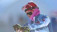 Veronika Vítková používá proti zimě, která v Pchjongčchangu panuje, ochranné tejpy.