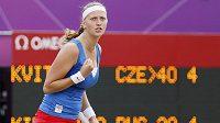 Petra Kvitová zápas s Ruskou Kirilenkovou nezvládla a z olympijského turnaje vypadla.