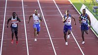 Finiš sprintu na 100 metrů na mítinku Gatesheadu.Ilustrační foto.