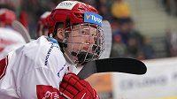 Útočník Jonáš Peterek z hokejového Třince, syn bývalého hráče a nynějšího sportovního ředitele klubu Jana Peterka.