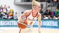 Česká basketbalistka Petra Záplatová.