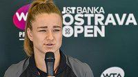 Tenistka Karolína Muchová před turnajem WTA v Ostravě.