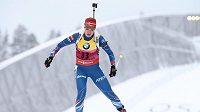 Gabriela Soukalová během sprintu na mistrovství světa v Oslu.
