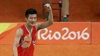 Radost malajsijského badmintonisty Chonga Wei Leea.