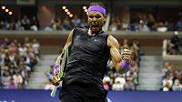 Rafael Nadal v osmifinále US Open proti Marinu Čiličovi.