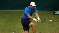 Tenista Tomáš Berdych na trávě v Halle