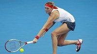 Tenistka Petra Kvitová na turnaji v Brisbane.