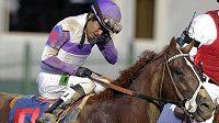 Žokej Mario Gutierrez s koněm I'll Have Another vyhrál slavné Kentucky Derby.