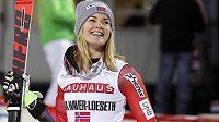 Norka Nina Haverová-Lösethová, překvapivá vítězka paralelního slalomu SP ve Stockholmu.