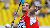 Oštěpař Vítězslav Veselý v kvalifikaci mistrovství světa v Moskvě.