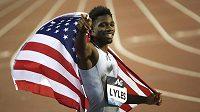 Američan Noah Lyles se raduje, v Diamantové lize získal sprinterský double.