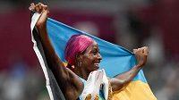 Shaunae Millerová-Uibová z Baham obhájila v Tokiu olympijské zlato v běhu na 400 metrů