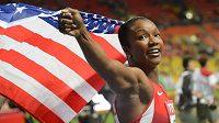 Carmelita Jeterová na archivním snímku z roku 2013. Tehdy na MS získala v běhu na 100 m bronzovou medaili.