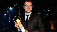 Jan Kovář z Plzně byl vyhlášen nejlepším hráčem play off extraligy.