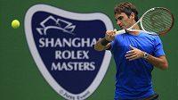Švýcarský tenista Roger Federer během tréninku v Šanghaji.