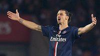 Zlatan Ibrahimovic v dresu PSG. Kolik v něm v této sezóně odehraje zápasů?