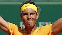 Rafael Nadal po triumfu na turnaji v Monte Carlu.