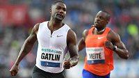 Americký sprinter Justin Gatlin na Zlaté tretře.