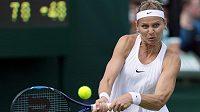 Lucie Šafářová na letošním Wimbledonu v singlu záhy skončila.