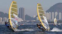 První testy na olympijských tratích v Guanabara Bay v Riu de Janeiro absolvovali závodníci ve windsurfingu.