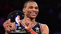 Nejužitečnější hráč Utkání hvězd NBA Russell Westbrook z Oklahomy v dresu Západu.